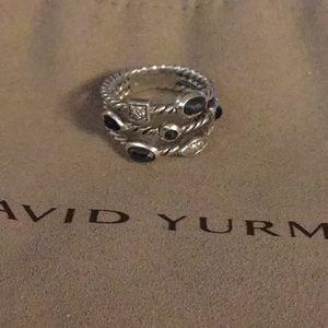 David Yurman Hematite and Diamond Confetti ring 🤩